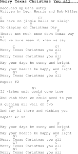 carol song lyrics with chords for merry