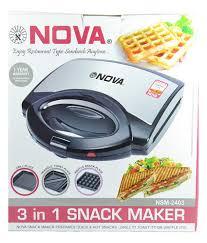 nova 3 in 1 snack maker nsm 2403 price in india buy nova 3 in 1
