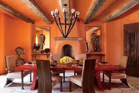 Orange Dining Room Step Inside 47 Celebrity Dining Rooms Photos Architectural Digest