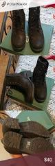 comfortable moto boots clarks oily leather womens combat boots worn a few times super