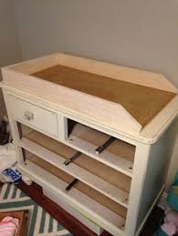 diy baby changing table dyi dresser to changing table how to build the top piece might