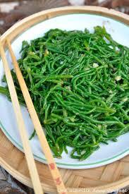 cuisiner salicorne salicornes sautées à l asiatique vegan vegetalien asiatique et algue