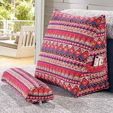 canapé coussins sunnyrain coton linge triangulaire dossier coussin pour canapé