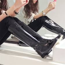 womens boots zip up back fashion black knee high army boots zipper toe