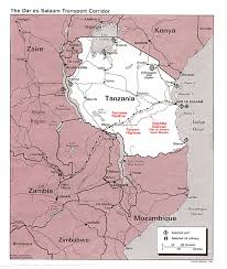 Map Of Tanzania Africa by