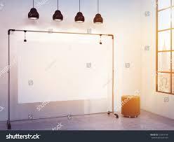 3d Home Design Software Portable Portable Blank White Board Corner Room Stock Illustration