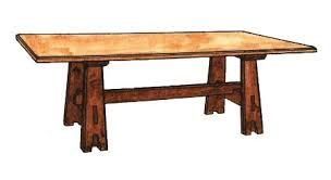 arts and crafts table for william wm morris oak painted arts crafts movement dining table