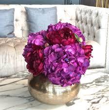 Purple Hydrangea Purple Hydrangea U0026 Burgundy Peony Bouquet