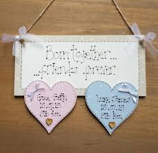 Diy Home Decor Signs by Personalised New Twins Triplets Baby Boy Birth Christening