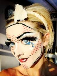 Pop Art Halloween Costume Pop Art Makeup Comic Makup Costume Roy Litchenstein