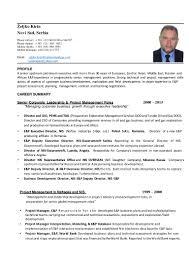 Sample Resume For Senior Management Position by C V Zeljko Kirin 2015 August