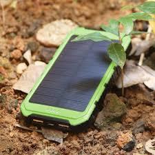 amazon com solar charger solar power bank 10000mah portable