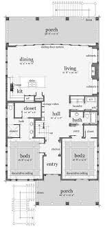 beach house layout plan 44091td designed for water views scale bedrooms and kitchens