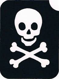 skull crossbone stencil paint for every