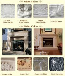 luxury stone fireplace surround natural marble fireplace mantel