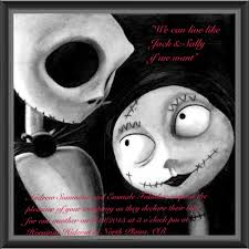Nightmare Before Christmas Wedding Invitations Wedding Invitation Toris Party Pinterest