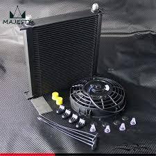 oil cooler fan kit 40 row an10 aluminum engine transmission oil cooler 7 electric