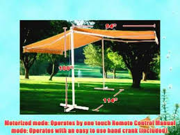 Awning Remote Control Deluxe Free Standing Portable Motorized Retractable Double Awning