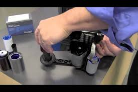 chagne ribbon how to change a ribbon on cd800 id card printer