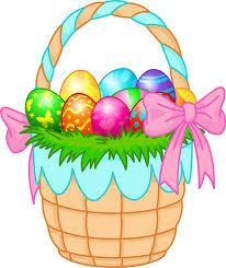 bunny basket eggs web design easter baskets easter and graphics