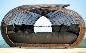 aliexpress com buy creative round rattan bed leisure lying
