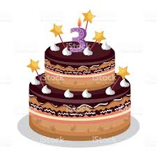 happy birthday cake with candle number stock vector art 850040702