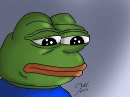 Sad Frog Meme - pepe sad frog blank template imgflip