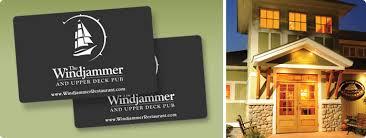 gift cards for restaurants windjammer restaurant gift cards windjammer restaurants south