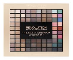 makeup revolution ultimate matte eyeshadow collection 2017