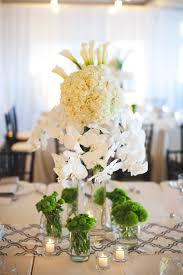 orchid centerpiece white hydrangea and orchid centerpiece elizabeth designs