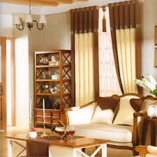 Valance Curtains For Living Room Dark Coffee Splice Modern Valance Curtains