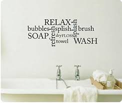 Wall Transfers For Bathroom Wall Decals For Bathroom Amazon Com