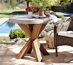 Outdoor Patio Table And Chairs Abbott Bistro Table Pottery Barn
