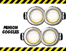 instant download despicable minion goggles printable etsy