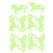luminous unicorn wall stickers 10 pcs set