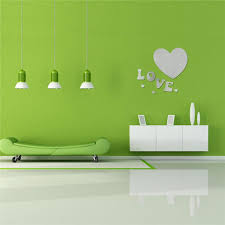 home decor 3d stickers essential luxury 3d love heart home sticker decor 3d acrylic mirror