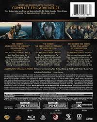 amazon com hobbit the motion picture trilogy extended edition