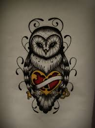 owl drawing heart by frah on deviantart on we heart it