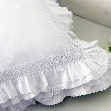 lace love ruffle cushion cover white ruffles pillows and