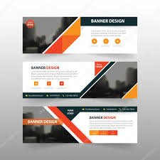 layout banner template orange black triangle abstract corporate business banner template