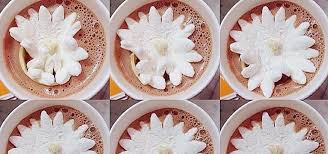 chocolate flowers these marshmallow flowers actually bloom in hot chocolate food