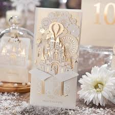 brides wedding invitation kits 50pcs laser cut wedding invitations cards kits customizable castle