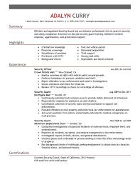 armed security job resume exles security guard resume exles skills sle canada resumes doc