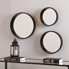 Mirror Sets For Walls Rain Splash Metal Wall Art Mirror U2013 Set Of 3 U2013 Mirror Wall Art