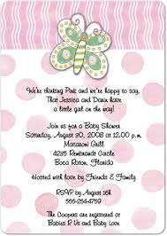 pink butterfly magnet large baby shower invitations storkie