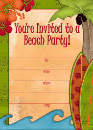 free printable beach party invitations from