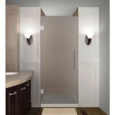 23 Shower Door Aston Cascadia 23 In X 72 In Completely Frameless Hinged Shower