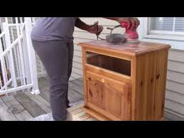 How To Refinish Desk How To Sanding U0026 Painting Furniture With Layla My Station