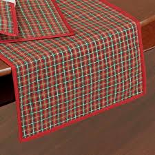 lenox nouveau joyful plaid table linens