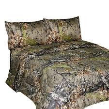 Camo Comforter Set King Amazon Com The Woods Premium Microfiber Camo Sheet Set Natural